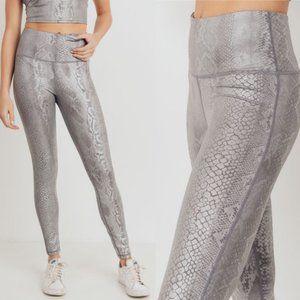 MONO B APH2818 Silver Snake Print Yoga Leggings